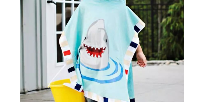 数码印花定制儿童睡袍浴巾