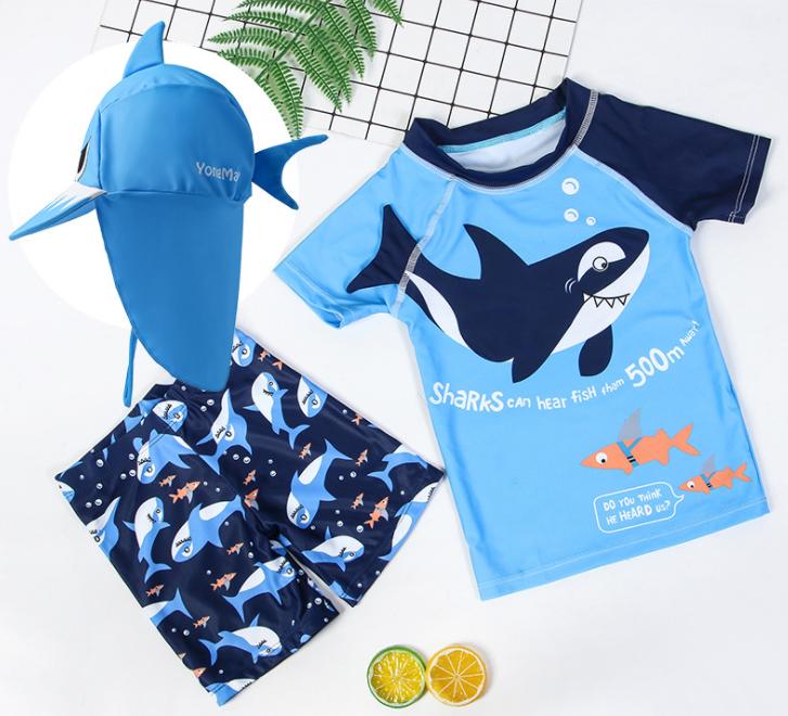 数码印花鲨鱼泳衣