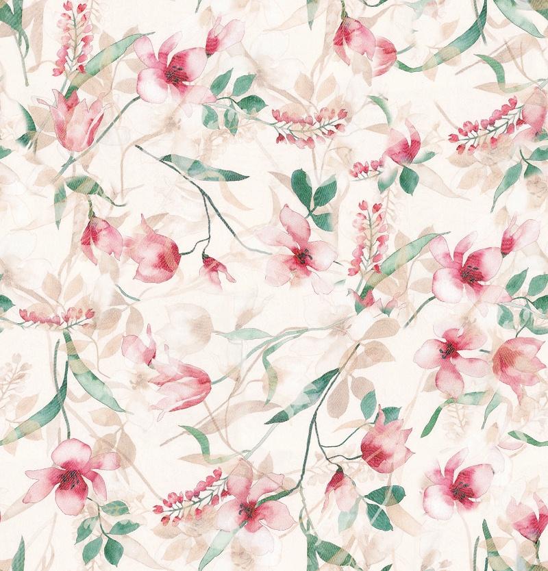 花之皇数码印花女装面料花型